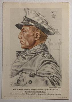 Print of Wolf Willrich - Kapitänleutnant Schuhart 1940