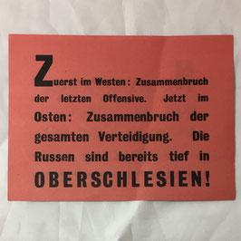 Allied leaflet 'Nur der Kriegsgefangene...'