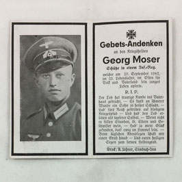 Deathcard of 'Georg Moser'