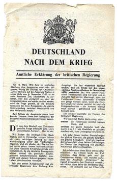 Geallieerd pamflet 'Deutschland nach dem Krieg'