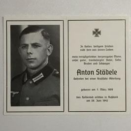 Deathcard of 'Anton Städele'