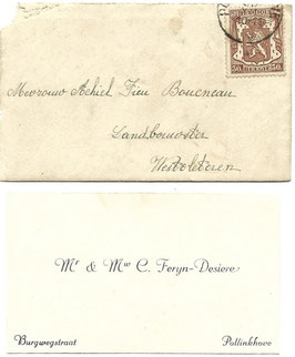 Nieuwjaarswensten met enveloppe - 1940