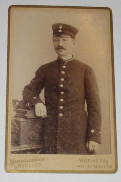 CDV German Soldier - Worms a. Rhein