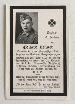 Deathcard of 'Eduard Lehner'