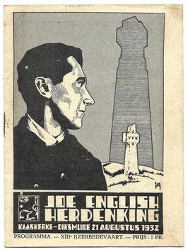 Programmaboekje - 13e Ijzerbedevaart - 1932