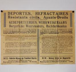 Affiche - Nationaal Verbond der Weggevoerden - 1947
