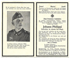 Doodsprentje 'Johann Philippi'