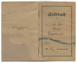 'Soldbuch' - '12. Landst. Inf. Ers. Bataillon (IV30)