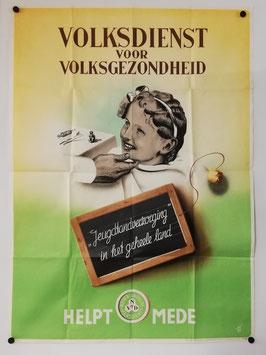 Dutch poster 'Volksdienst voor volkgezondheid' - 1943