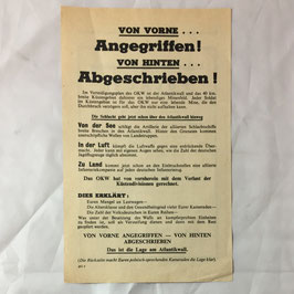 Allied leaflet 'Von vorne... Angegriffen! Von Hinten... Abgeschrieben!'