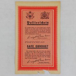 Allied leaflet - Passierschein