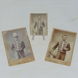 Small set of CDV of a belgian soldier