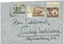 Enveloppe met poststempels - 1943