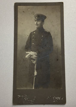 CDV One german officer with sabre
