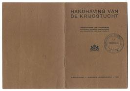 Nederlands leger - Handhaving van de krijgstucht - 1936