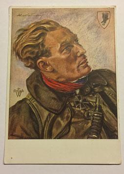 German postcard by Willrich 'Hauptmann Baumbach'