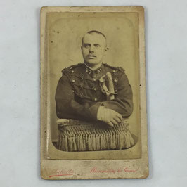 CDV One french soldier - Mourmelon-le-Grand