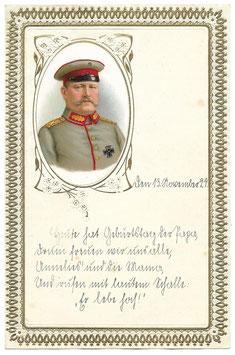 Duitse verjaardagsbrief met patriottische print - Hindenburg