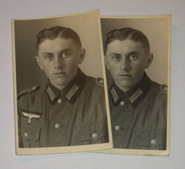 Pair of photographs of a german soldier I