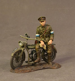 The Great War 1914-1918 - Royal Engineers Signal Service Dispatch Rider on Motorbike