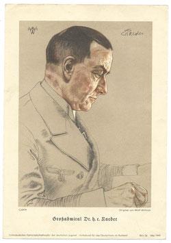 Print door 'Wolf Willrich' - Großadmiraal Dr. h.r. Raeder 1941