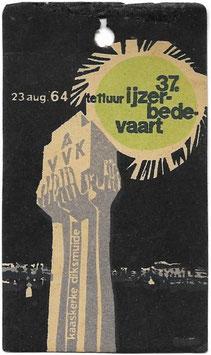 Herkenningsteken '37de Ijzerbedevaart' - 1964