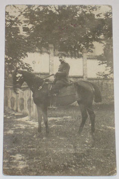 German Officer on horseback - used as postcard
