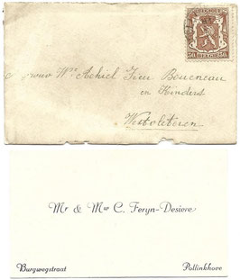 Nieuwjaarswensten met enveloppe - 1941