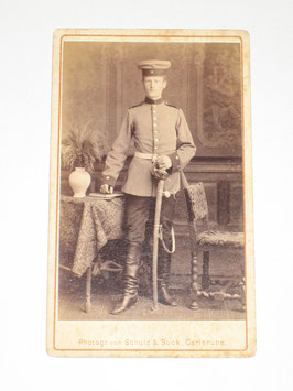 CDV German Soldier - Carlsruhe
