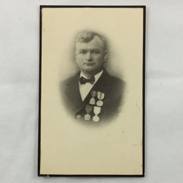 Deathcard of a belgian veteran of WW1