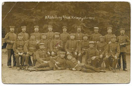 Groepsfoto Duitse soldaten - 1915