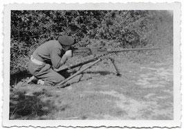 Belgisch soldaat met .50 cal