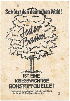 'Schützt den deutsche Wald' - pamflet inzake bosbescherming