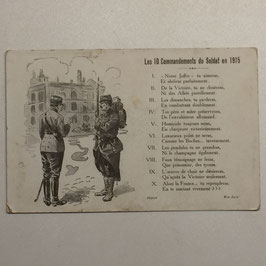 French postcard 'Les 10 Commandements du Soldat en 1915'