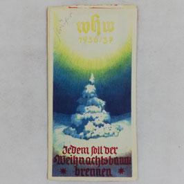 WHW 1936/37 paper vignette - Jedem soll der Weihnachtsbaum brennen