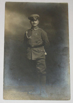 German NCO with 'Schützenschnur', 'Bandspange EK2' and 'Verwundetenabzeichen in Schwarz'