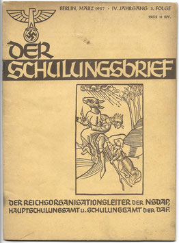 Der Schulungsbrief - IV. Jahrgang 3. Folge März 1937