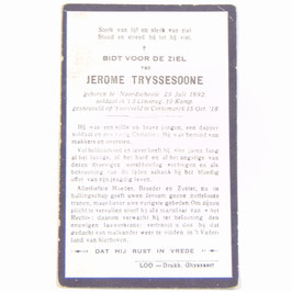 Doodsprentje 'Jerome Tryssesoone'