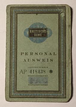 Personal Ausweis - Britische Zone I