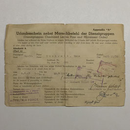 Dienstgruppen Combined Leave Pass and Movement Order