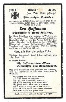 Doodsprentje 'Leo Hoffmann'