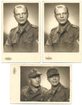 Klein lot foto's Duits soldaat