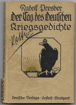 Der Tag des deutschen Kriegsgedichte - 1914