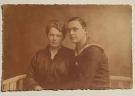 German sailor with woman