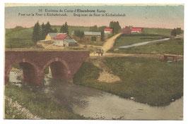 Environs du Camp d'Elsenborn Kamp - Pont sur la Roer à Küchelscheidt - Brug over de Roer