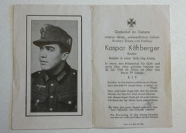 Deathcard of 'Kaspar Kühberger'