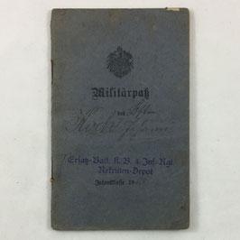 Duitse 'Militärpass - Koch Johann'