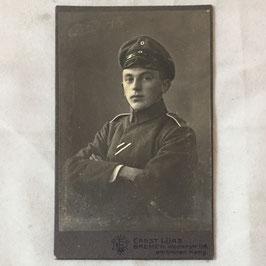 CDV Duits soldaat met lint 'Eisernes Kreuz 2. Klasse'