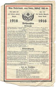 Duits patriottisch liederenbundel - 1916