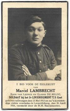 Doodsprentje 'Marcel Lambrecht'